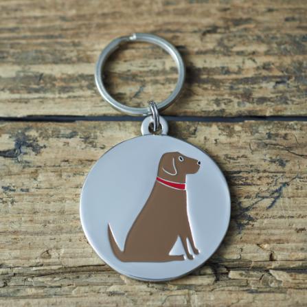 Dog Tag Chocolate Labrador