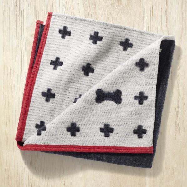 Hundedecke Graphite-White