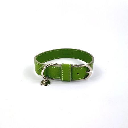 Lederhalsband Green
