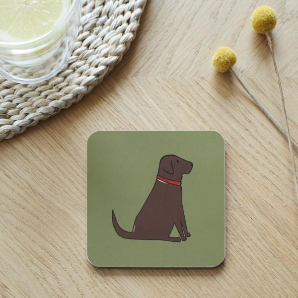 Untersetzer Chocolate Labrador