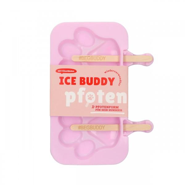 Hundeeis ICE Buddy Silikon Pfotenform